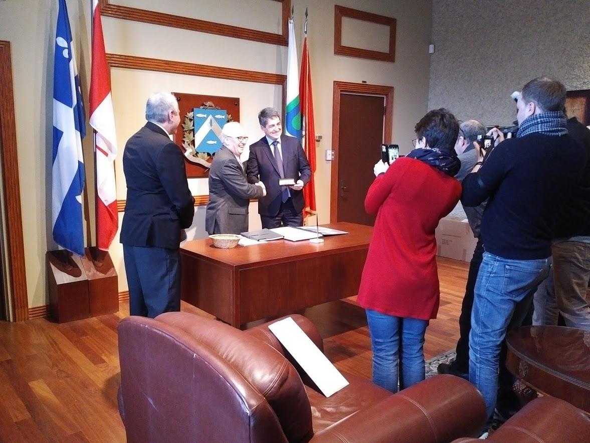 Partenariat officielle entre Jean Rottner et la Ville de Trois-Rivières